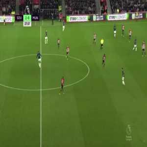 Marcus Rashford shot vs Southampton