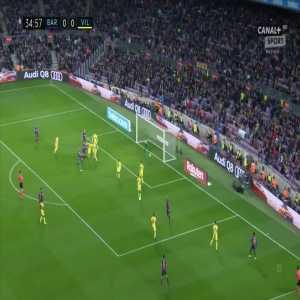 Barcelona [1]:0 Villarreal - Gerard Pique 35'
