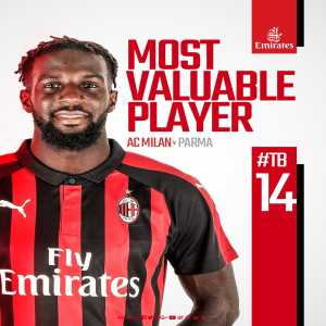 Bakayoko wins yet another MOTM for his performance against Parma yesterday.