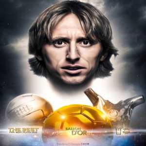 """Luka Modric: """"In the past, there are some players that couldn't win this award like Xavi, Iniesta, Sneijder. This is a victory for football and I dedicate this award to all thoss who deserved to win before""""."""