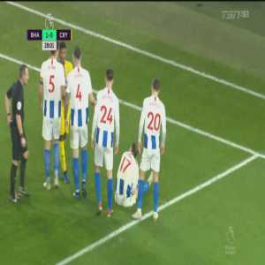 Shane Duffy straight red card against Crystal Palace 28'