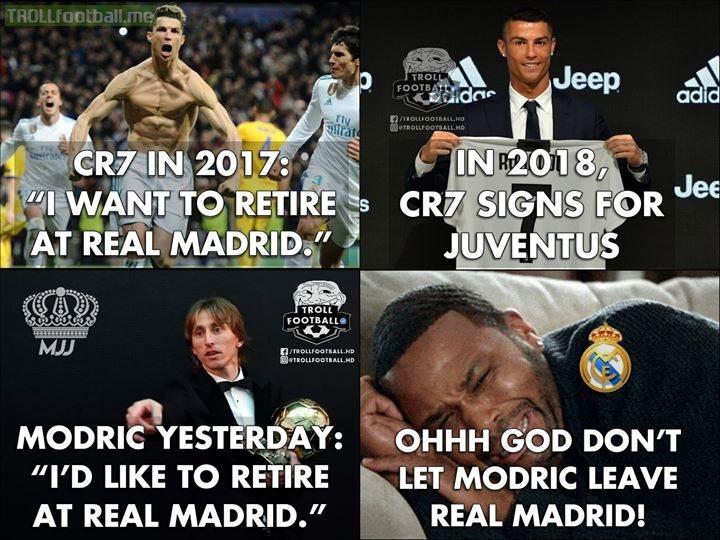 2019: Modric Is Leaving Real Madrid...  Poor Real Madrid. Fans.😂😂🤣🤣😂😂
