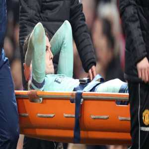 Arsenal defender Rob Holding out for six and nine months with ruptured anterior cruciate ligament of his left knee.