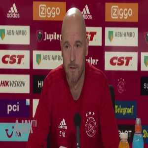 "Journalist asks Ajax manager Erik ten Hag on Frenkie de Jong going to PSG: ""You've talked with him about this, right?"" Ten Hag: ""Yes, he was already speaking French"""