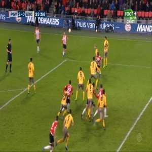 PSV 2-0 Excelsior - Robin van der Meer OG 34'