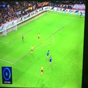 Some impressive buildup play by Wolves for Raul Jimenez's equaliser against Chelsea