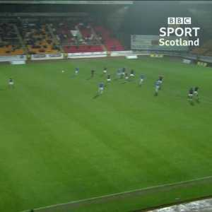 St Johnstone player assaulted by invisible sniper, awarded penalty.
