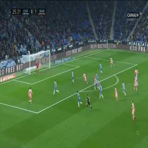 Espanyol 0:[2] Barcelona - Ousmane Dembélé 26'