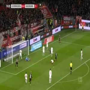 Leverkusen 1-0 Augsburg - Julian Baumgartlinger 75'