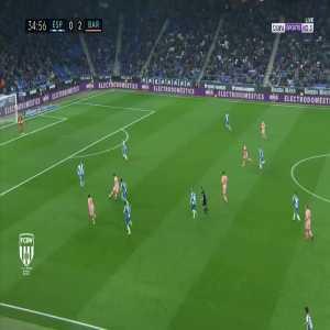Messi's amazing pass to Suarez