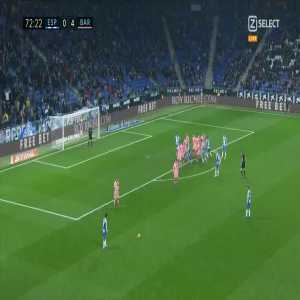 Ó. Duarte goal (Espanyol [1]-4 Barcelona) 72'