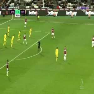 R. Snodgrass great goal (West Ham [1]-1 Crystal Palace) 48'