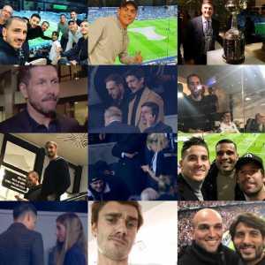At the Bernabeu watching the Copa Libertadores final: Messi, Griezmann, Godín, Dybala, Simeone, Bonucci, Chiellini, Icardi, Zanetti, Oblak, James Rodríguez, Cambiasso, Perin, Giménez and many more [PICTURES]