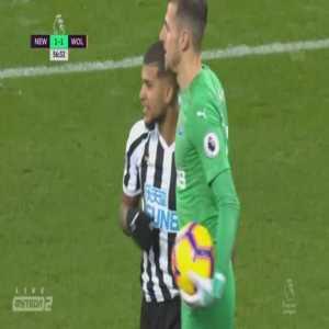 DeAndre Yedlin straight red card against Wolves 57'
