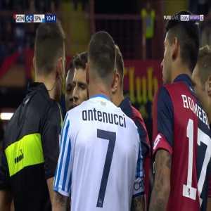 Domenico Criscito (Genoa) straight red card against Spal 11'