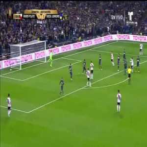 Juan Fernando Quintero (River Plate) goal vs. Boca Juniors ([2]-1) ([4]-3 on aggregate)