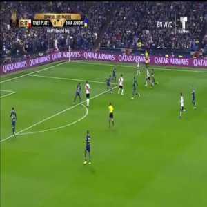 Lucas Pratto (River Plate) goal vs. Boca Juniors ([1]-1) ([3]-3 on aggregate)