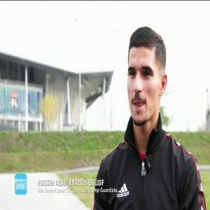 """Houssem Aouar: """"Honestly one day I would love to be managed by Pep Guardiola. We see football the same way."""""""