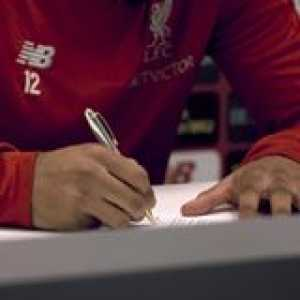 ✍️😁 Joe Gomez has signed a new long-term contract!  🎥 Liverpool FC
