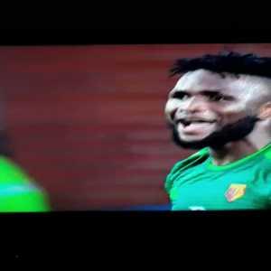 Yerry Mina foul on Success (Already booked, no foul given)