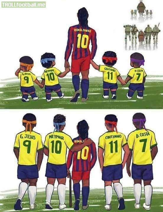 """We Miss You Ronaldinho""💔😭"