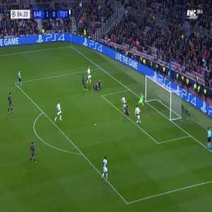 Barcelona 1-[1] Tottenham - Lucas Moura 85'