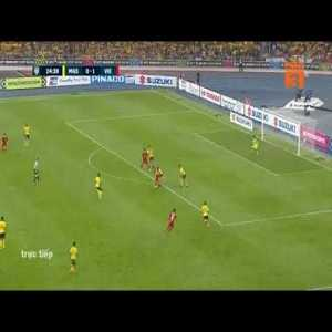 Duc Huy great goal : AFF Cup. Malaysia 0 - [2] Vietnam