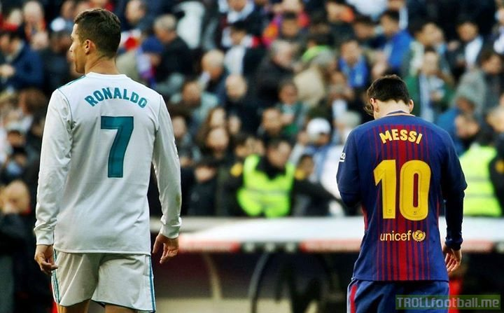 """I do not fear Messi, I dominated the Premier League and the La Liga. I challenge Lionel Messi to come to Serie A. I hope he accepts my challenge and we battle one day in the Italian League.""  - 🗣Cristiano Ronaldo"