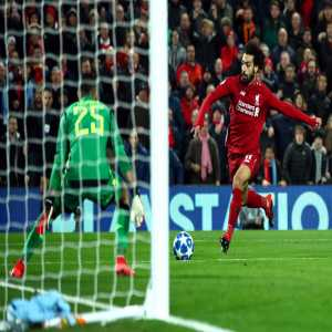 Mohamed Salah has been directly involved in 48 goals in 38 games in all competitions for Liverpool at Anfield (35 goals, 13 assists).