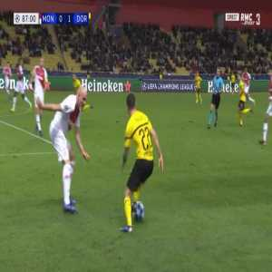Monaco 0-2 Dortmund - Raphael Guerreiro 88'