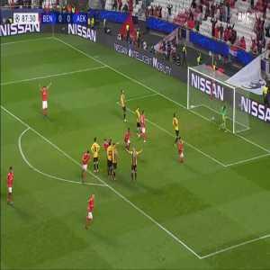 Benfica 1-0 AEK - Alex Grimaldo free-kick 88'