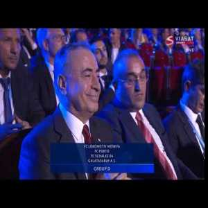Galatasaray president's reaction after being drawn with Porto, Schalke and Lokomotiv