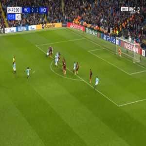 Manchester City [1]-1 Hoffenheim - Leroy Sané free-kick 45'+1'