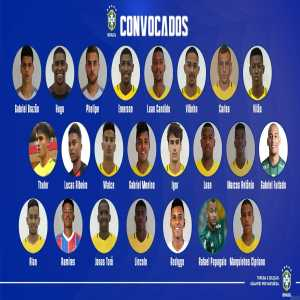 Brazil squad called up for the South American u20 Championship