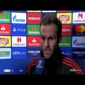 "BT reporter: ""What was the actual thought behind United's gameplan (to beat Valencia)?"" Juan Mata: ""What do you mean?"""