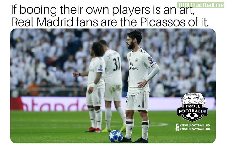 Isco wouldn't even take the captain's armband from Marcelo when he was substituted. Isco never was himself after their fans started booing him.
