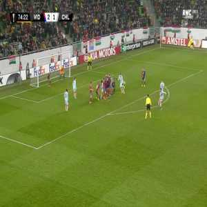 MOL Vidi 2-[2] Chelsea - Olivier Giroud free-kick 75'