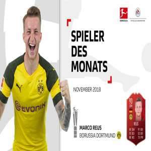Marco Reus is the Bundesliga Player of the Month for November 2018
