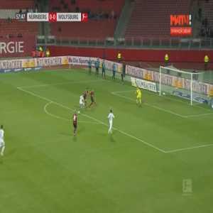 Nurnberg 0-1 Wolfsburg - Daniel Ginczek 58'