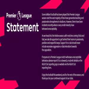 Premier League message for fans