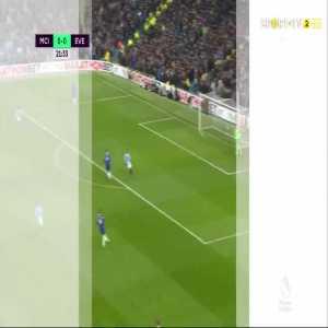 Gabriel Jesus goal (Man City [1]-0 Everton) 22'
