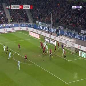 Hannover 0-2 Bayern - David Alaba 29'