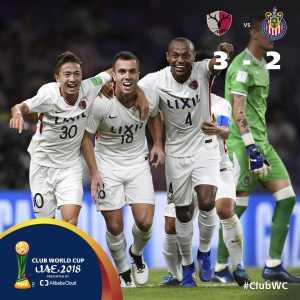 Kashima Antlers eliminates Guadalajara and will face Real Madrid in semi-finals