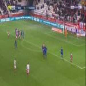Reims [2]-1 Strasbourg - Mathieu Cafaro free-kick 65'