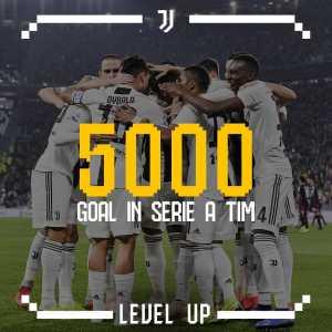 Ronaldo scores Juve's 5000th Serie A goal