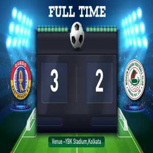East Bengal win the Kolkata derby against Mohun Bagan 3-2 in front of 65,000 fans!