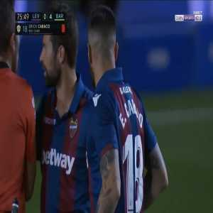Erick Cabaco (Levante) straight red card against Barcelona 76'