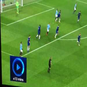 Jesus's air-header and one man dance when Sterling scored.