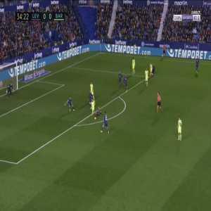 Levante 0-1 Barcelona - Luis Suarez 35'