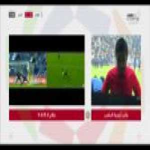 Ref disallows a goal and points to a penalty to the other team after consulting VAR (Al Hilal 1-[2] Al Hazm)